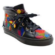 Laurence Dacade Black Bagatelle Embroidered High Top Sneakers