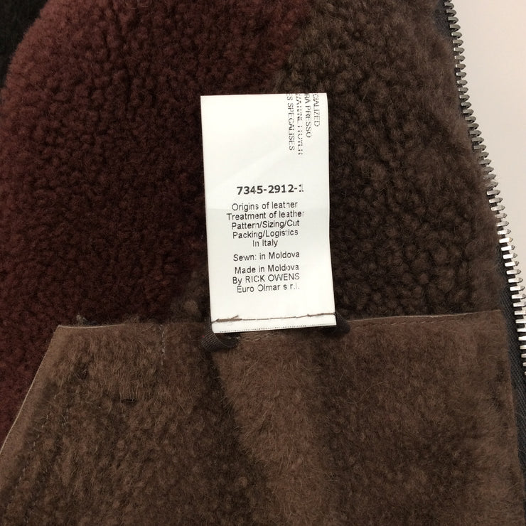 Rick Owens Tri Color Shearling Jacket