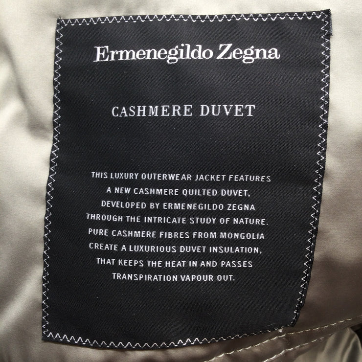 Ermenegildo Zegna Grey Cashmere Duvet Luxury Outerwear Men's Jacket