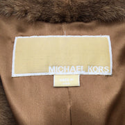 Michael Kors Brown & Black Mink Fur Coat