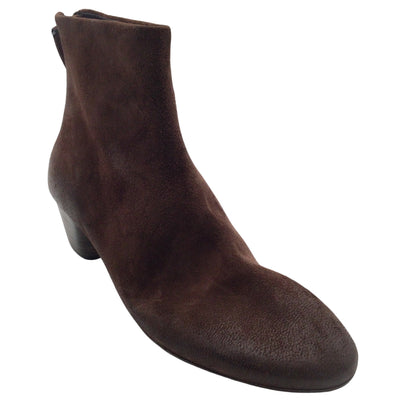 Marsèll Brown Distressed Suede Leather Ankle Boots/Booties