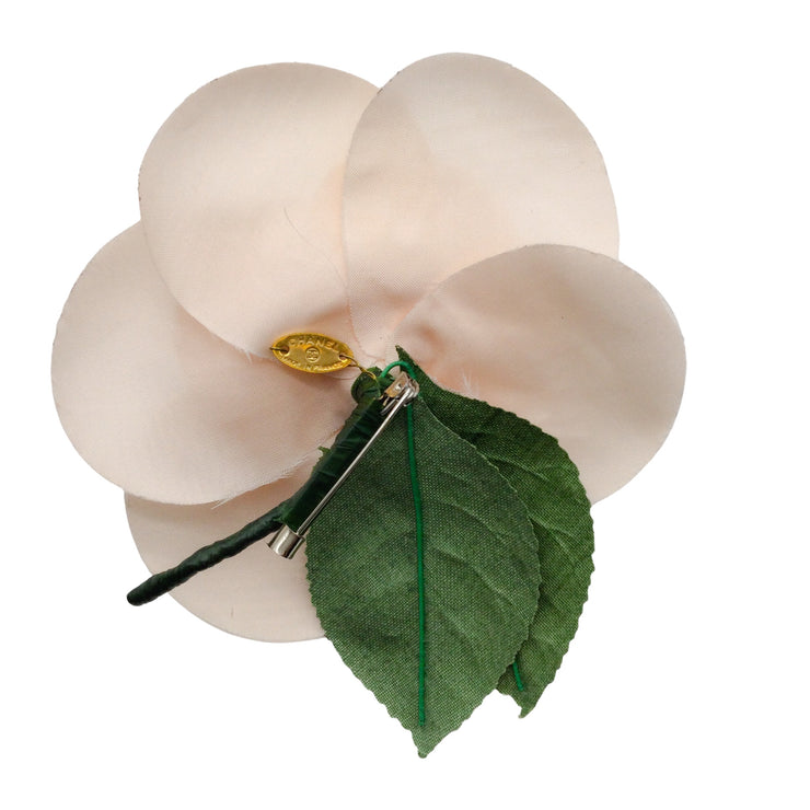 Chanel Camelia Light Pink Silk Floral Brooch