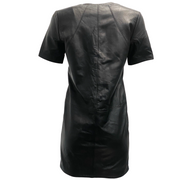 Helmut Lang Black Leather T Shirt Dress