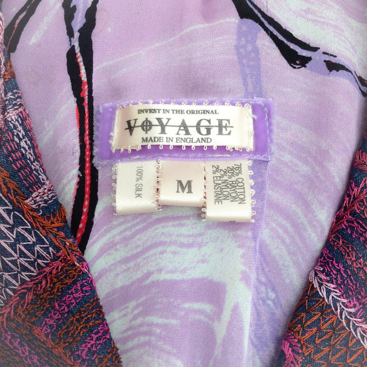 Voyage Denim Multi Embroidered Blazer