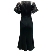David Koma Black Lace Top Dress