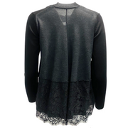 Sacai Black and Gray Lace Back Cardigan