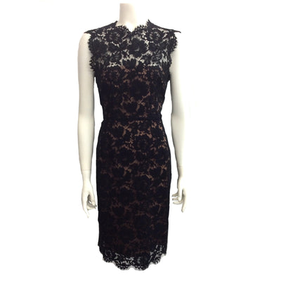 Valentino Black / Nude Guipure Lace Bow  Dress