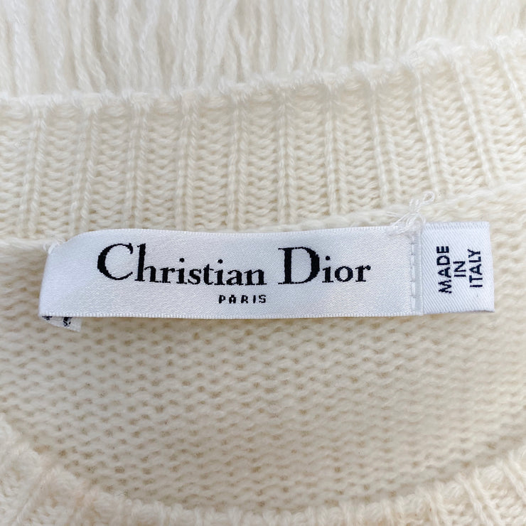 Dior Fringe Cream Sweater