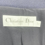 Christian Dior Navy Textured Wool Peacoat
