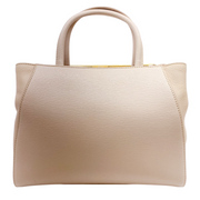 Fendi 2jours Light Pink Leather Petite Shopping Tote
