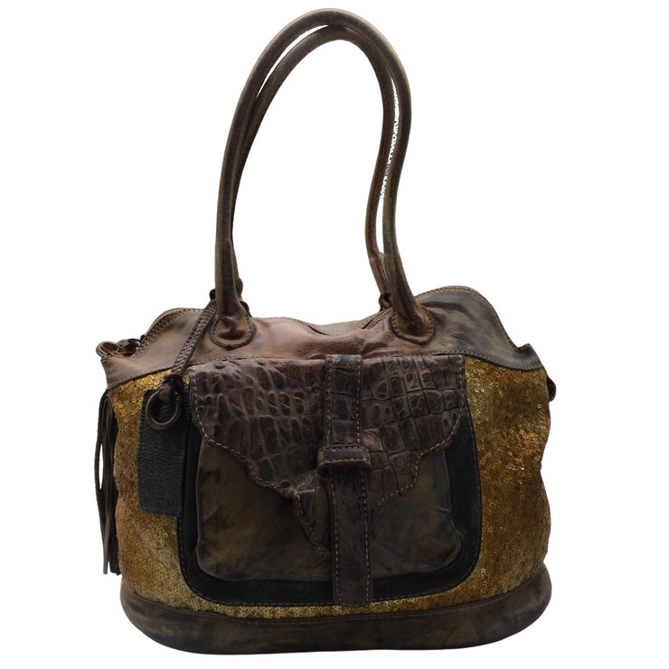 Caterina Lucchi Brown Leather Satchel