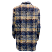 Closed Blue Plaid Mohair Jacket
