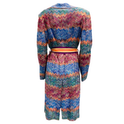 Missoni Multicolor Knit Belted Jacket