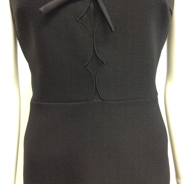 Giambattista Valli Black Bow Detail Sleeveless Dress