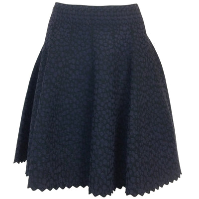 ALAÏA Leopard Print Viscose Stretch Skirt