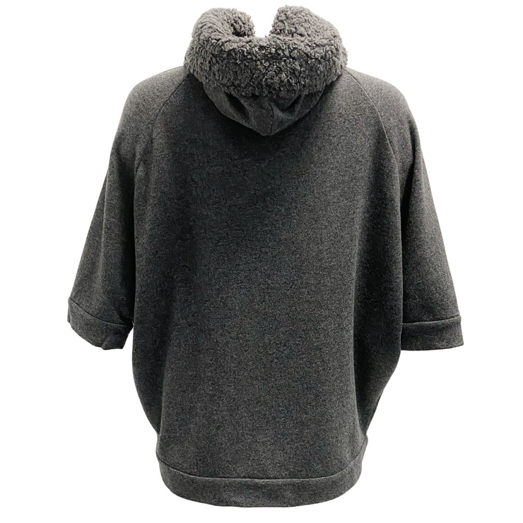Brunello Cucinelli Grey Short Sleeve Hooded Top
