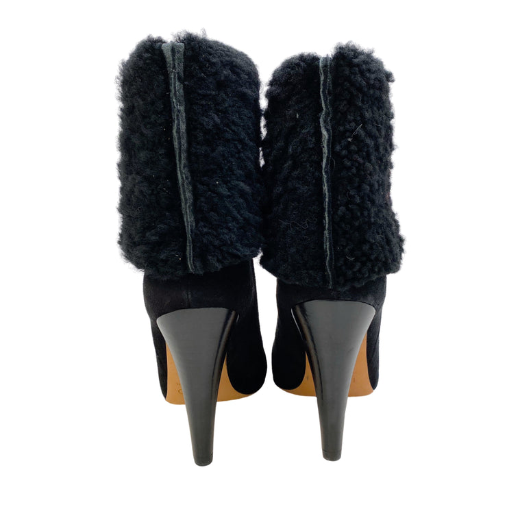 Iro Grace Black Suede Boots/Booties