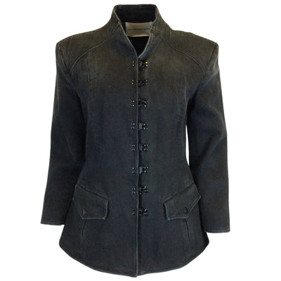 Olivier Theyskens Dean Distressed Denim Blazer Jacket