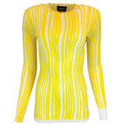 Calvin Klein 205W39NYC Yellow & White Striped Knit Sweater