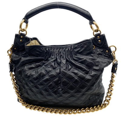 Marc Jacobs Black Quilted Leather and Gold Chain Shoulder Bag