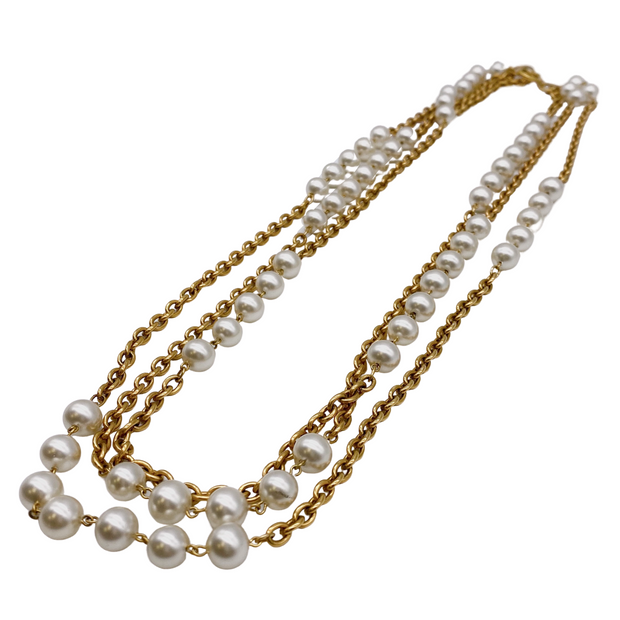 Chanel Gold Long Multi Chain Necklace