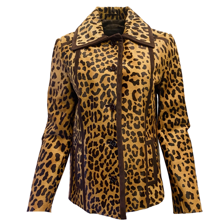 Prada Animal Print Pony Hair Jacket