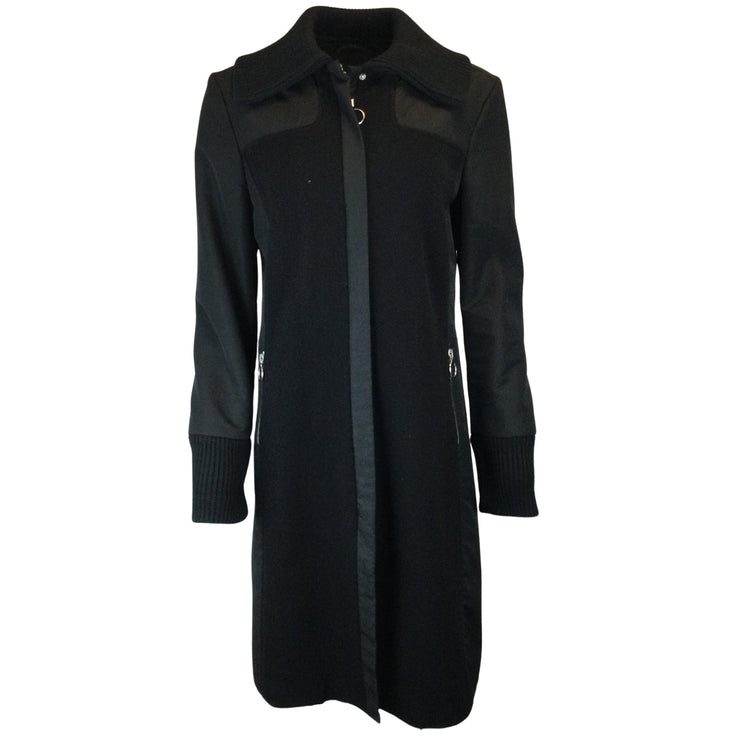 iBlues Black Micro & Wool Coat