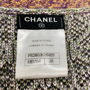 Chanel Grey and Purple Silk Mohair Cardigan