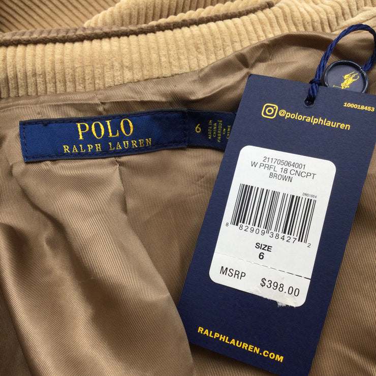 Polo Ralph Lauren Tan & Brown Corduroy Blazer