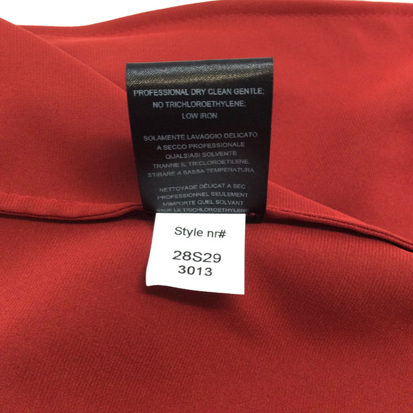 abf5cf1f2825d Narciso Rodriguez One Shoulder Handkerchief Hem Red Top – Roundabout ...