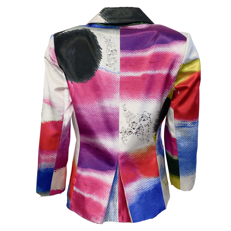 Libertine Multi Color Gemstone Embellished Blazer