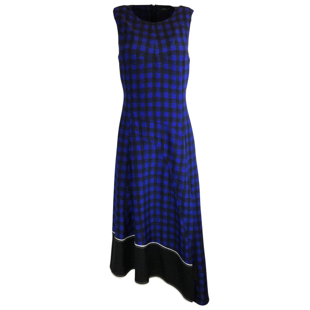 Derek Lam Plaid Checkered Silk Dress