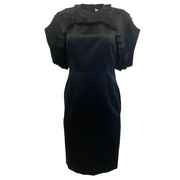 noir kei ninomiya By Comme Des Garcons Black Chain Link Pleated Dress