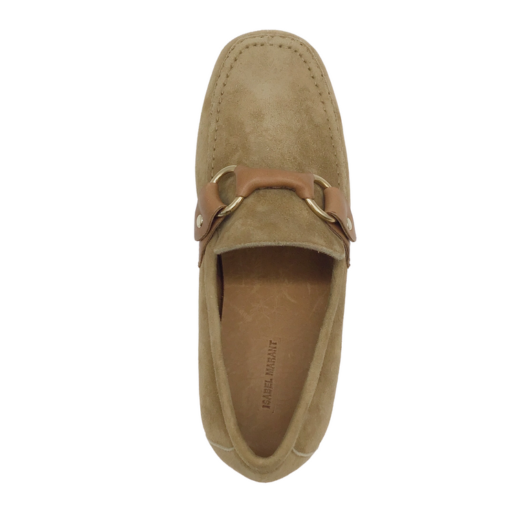 Isabel Marant Tan Suede Farlow Loafer