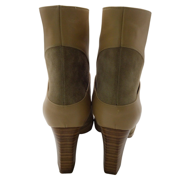Chloé Tan Leather and Suede Boots/Booties