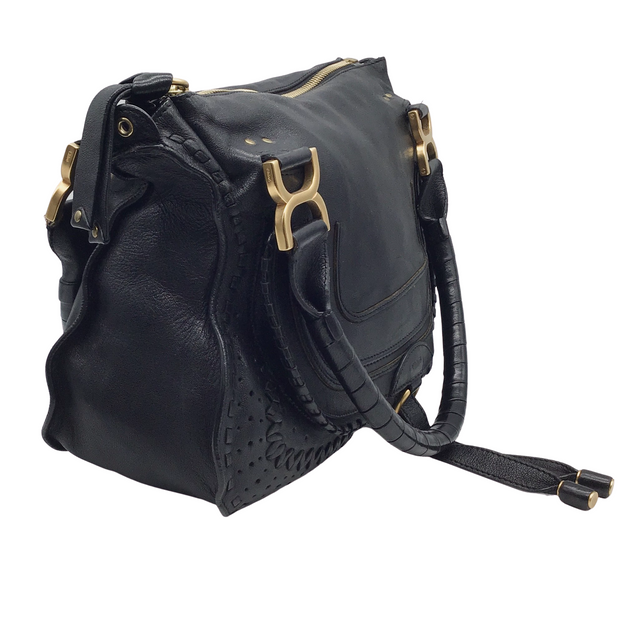 Chloé Marcie Medium Black Leather Shoulder Bag