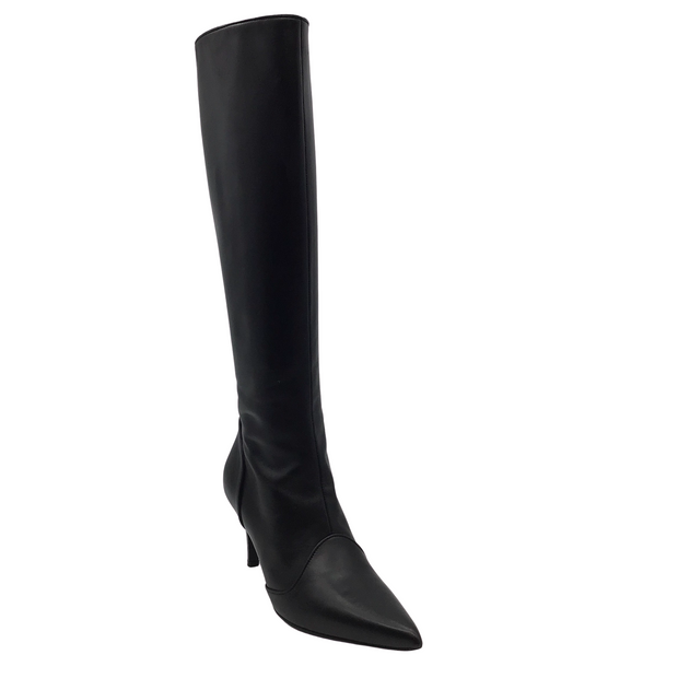 Salvatore Ferragamo Black Leather Knee High Boots