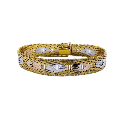 Italian Gold Multi 925 Layered Link Bracelet