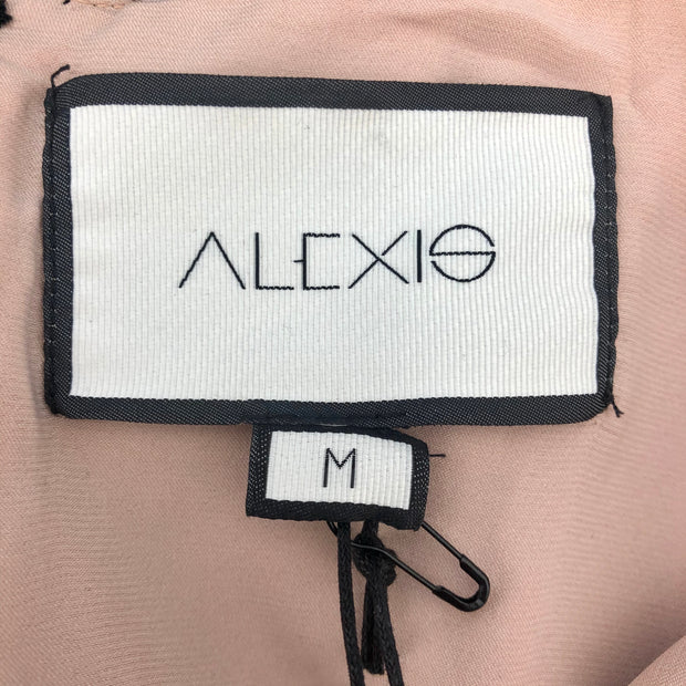 Alexis Black and Nude Helia Cocktail Dress