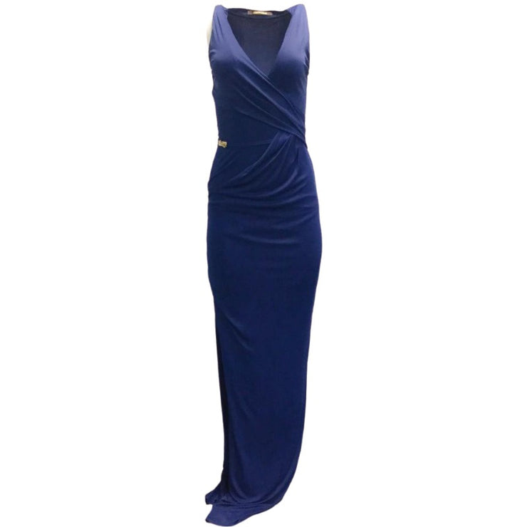 Roberto Cavalli Cobalt Hidden Belt Formal Dress