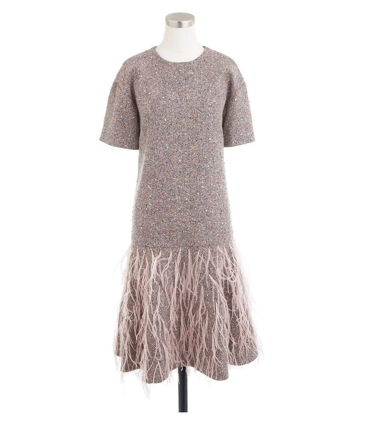 J.Crew Multicolored Italian Tweed Dress