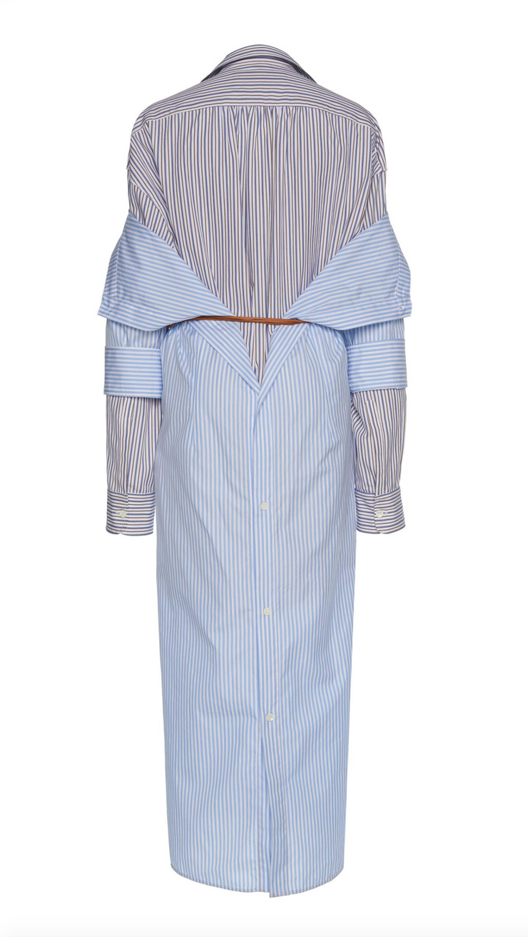Marni Striped Popeline Duster Coat Dress