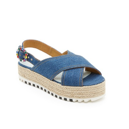 Criss Cross Denim Sandals by Marc Jacobs