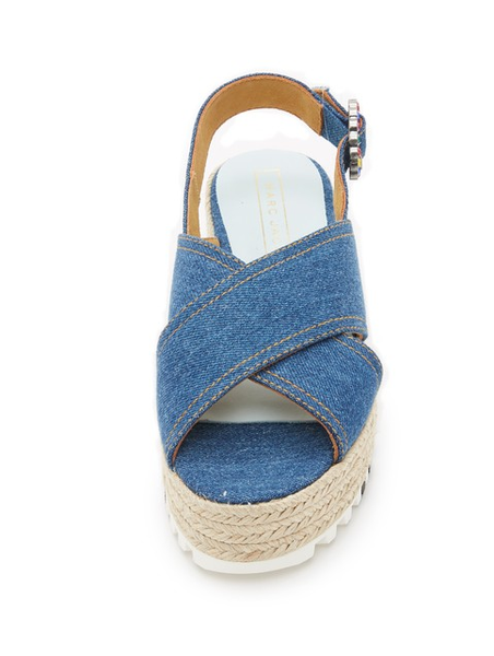 Criss Cross Denim Sandals by Marc Jacobs top