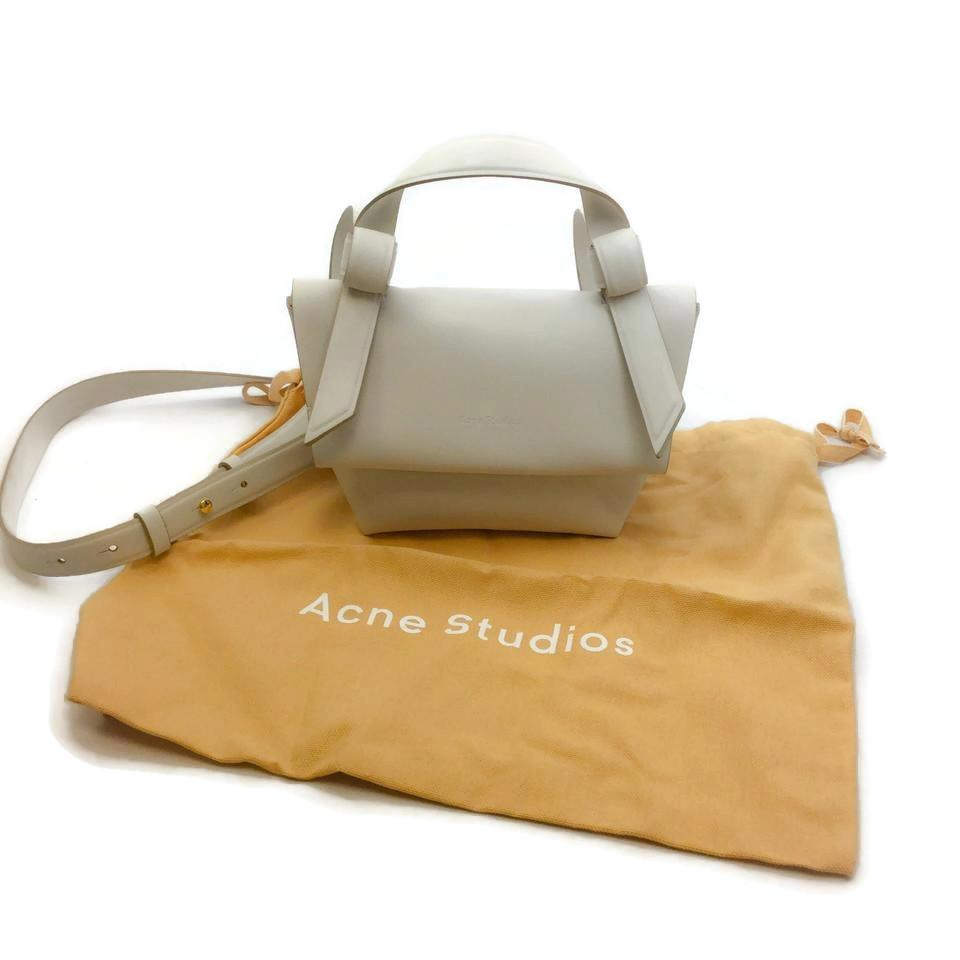 Acne Studios Musubi Milli White Leather Shoulder Bag