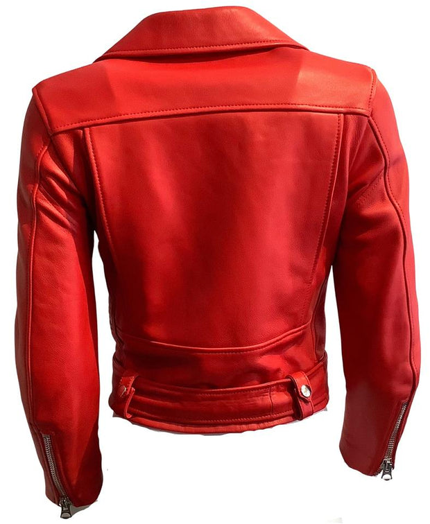 Acne Studios Red Motorcycle Jacket