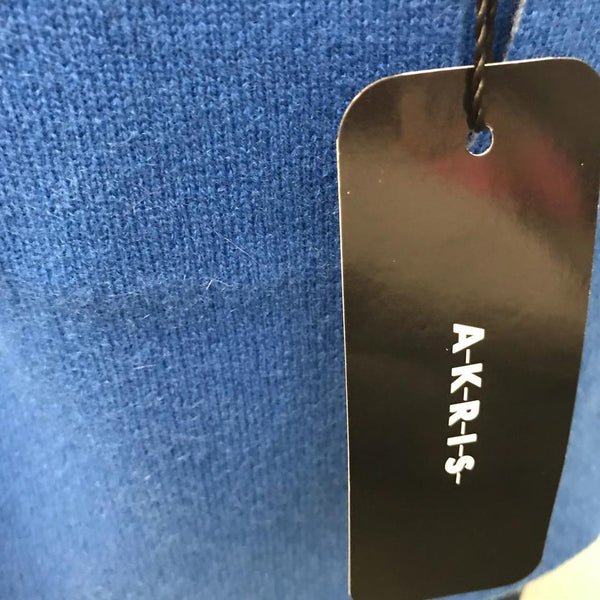 Akris Blue/Light Blue Cashmere Jean Reversible Cardigan Sweater