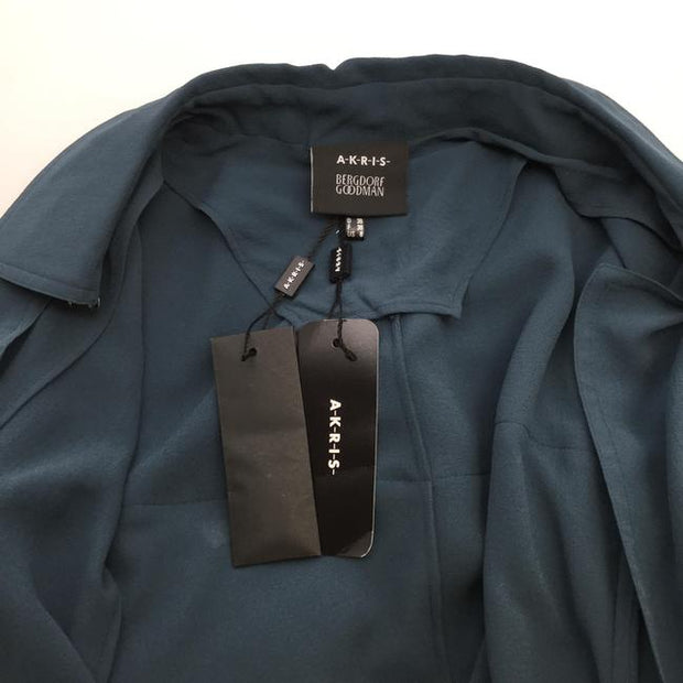 Akris Teal Sheer Silk Coat