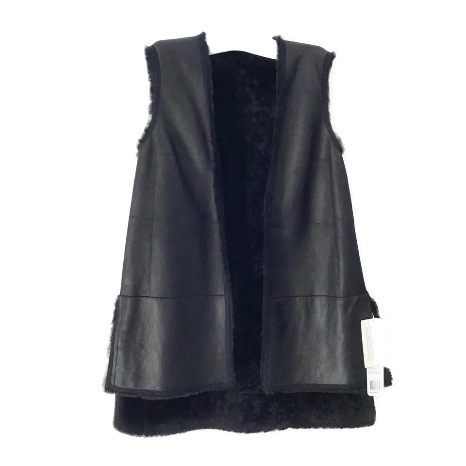 Akris Punto Black Reversible Lamb Vest