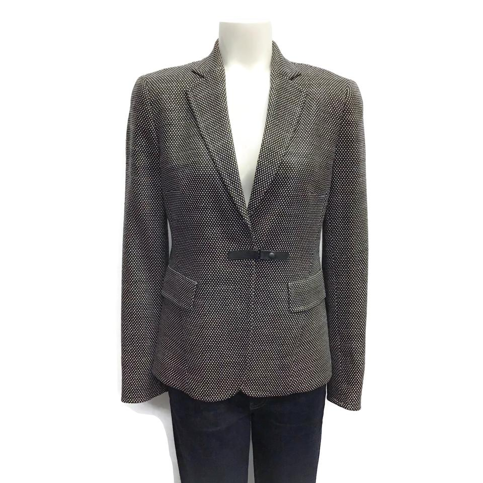 Akris Punto Black/White Notch Collar Blazer